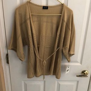 Nicole by Nicole Miller Gold Cardigan Sz Medium